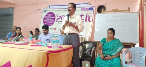 Mr. Muni Mohan the coordinator from RIPE addressing the public