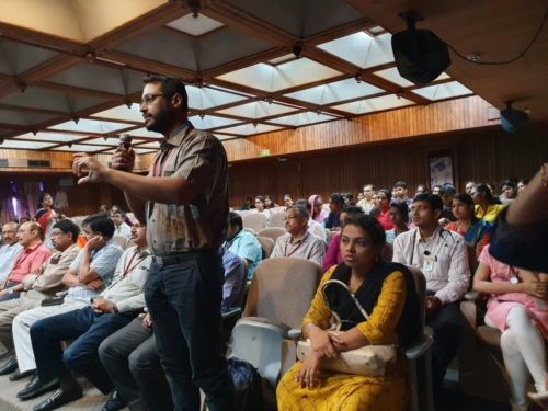 Inquisitive audience present during first dissemination event