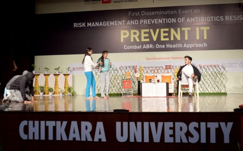 An interesting theater play performed during dissemination event