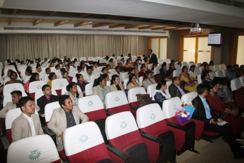 Curious audience at dissemination event