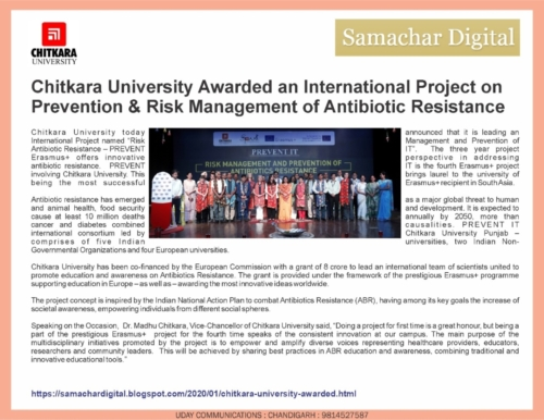 Samachar Digital Covers Chitkara University first Empowerment Camp