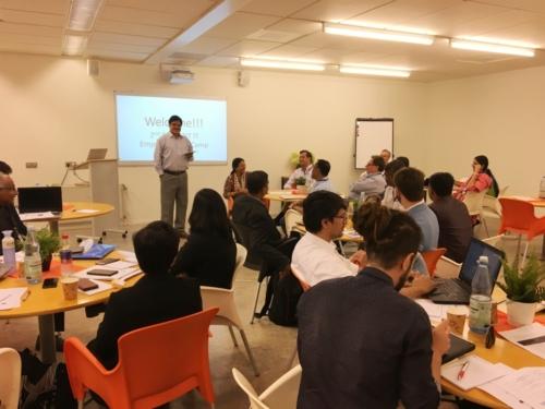 Dr. Sanjeev K Singh from Amrita university introducing the team to its consortium