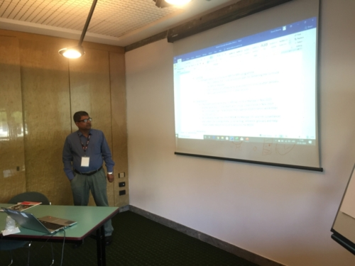 Manipal Coordinator (Dr. Shah Hossian) sharing his insights about the project