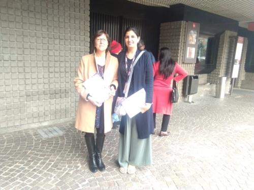 Dr. Francesca from University of Milan and Dr. Kiranjeet Kaur from Chitkara University